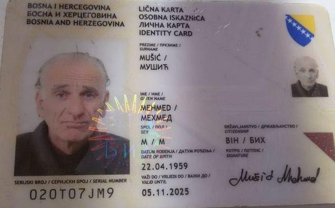 Pronađena Izgubljena Licna Karta Na Ime Mehmeda Musica Radio Bihac