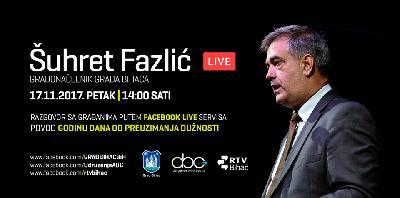 Facebook Live sa gradonačelnikom Fazlićem