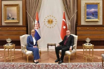 Erdogan nakon sastanka s Grabar-Kitarović: Izborni zakon je unutarnje pitanje BiH
