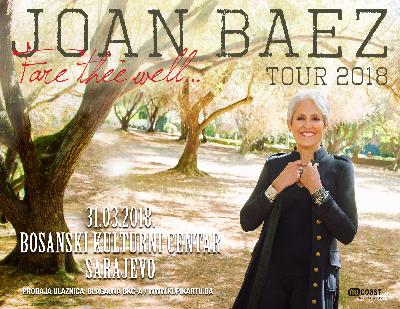 Koncert Joan Baez 31. marta u Sarajevu