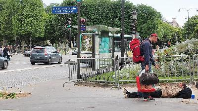 U Parizu živi oko 3.000 beskućnika