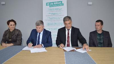 """PoMAK i SDA u Bihaću potpisali sporazum """"10 projekata za Bihać"""""""